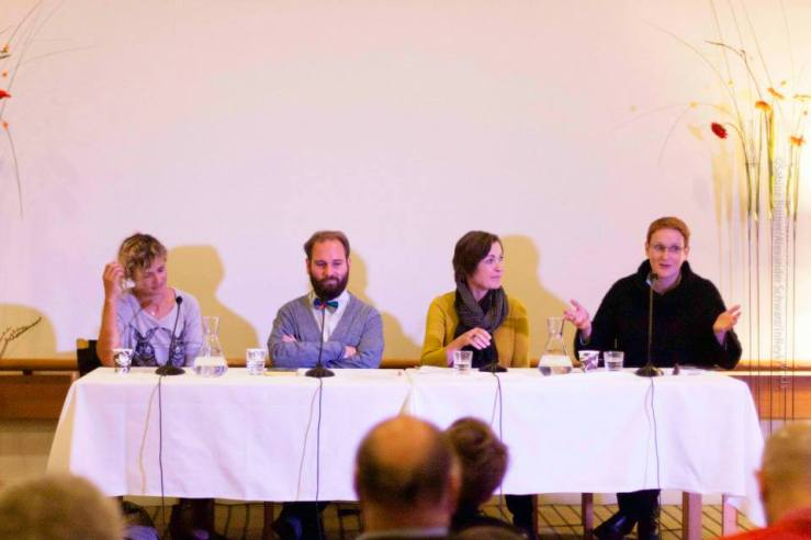 Publisher's Seminar at the International Literature Festival (Reykjavík, Iceland), with Hege Roel Rousson, Hege Roel-Rousson, Mátyás Dunajcsik, Trine Licht és Bryndís Loftsdóttir, 2013 (Photo by Alexander Schwarz)