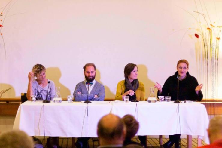 Publisher's Seminar at the International Literature Festival (Reykjavík, Iceland), with Hege Roel Rousson, Hege Roel-Rousson, Mátyás Dunajcsik, Trine Licht és Bryndís Loftsdóttir, 2013 (Photo by Alexander Schwarz)