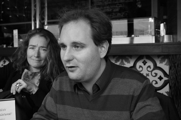 With Barbara Epler at the Budapest Publisher's Fellowship, 2011 (Photo by Michele Hutchinson)