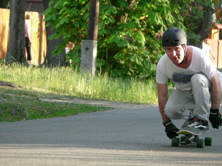 Longboarding in the suburbs of Budapest, 2012